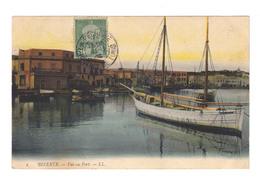 Sur Carte Postale Tunisie Timbre Tunisie Poste CAD La Pêcherie Agence De Tunis (2500) - Tunisia (1888-1955)