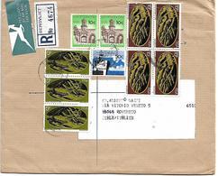 RSA004 - SUD AFRICA -LETTERA RACCOMANDATA AEREA DA BERGVLIET A ROVERETO 23.5.73 - N. 3x344+4x346+2x287+273 CAT. YVERT - Sud Africa (1961-...)