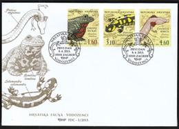 Croatia Zagreb 2013 / Croatian Fauna - Amphibians / FDC - Croatie