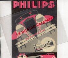 PHILIPS SUPERDUPLO- PROJECTEUR LAMPES A ATMOSPHERE GAZEUSE POUR VOITURES-LAMPE  AUTOMOBILE -1933 - Cars