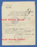 Billet De Retour D'un Poilu & Sa Femme - Soldat Pierre LAFFONT Soigné à L' Hôpital De VERDUN - 1914 - Cachet De Train - Transportation Tickets