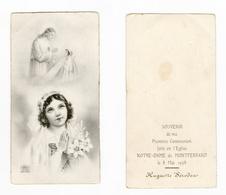 Montferrand, 1re Communion D' Huguette Séroden, 1938, église Notre-Dame - Devotion Images