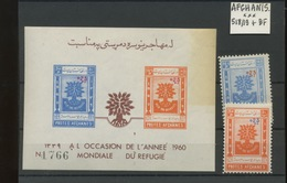 1960    Refugiés  Surchargés  518/19 Bloc 7 Jauni    Yv 15,75- Euros - Afganistán