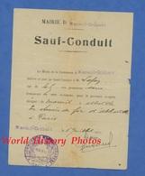 Documetn Ancien - MAREUL CAUBERT - Sauf Conduit Pour Un Trajet En Train Pendant La Guerre - Juillet 1915 - Cachet Mairie - Titres De Transport