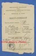 Documetn Ancien - Trajet PARIS ABBEVILLE - Sauf Conduit En Train Pendant La Guerre - Juillet 1915 - Cachet Mairie - Titres De Transport
