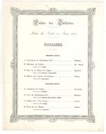Napoléon III, Palais Des Tuileries, Programme Concert (Paganini, Verdi, Rossini...), 1855, Paris - Programmes