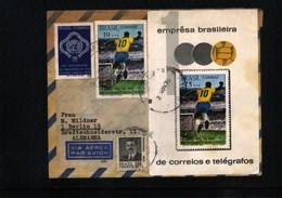 Brazil  Pele's 1000th Gol Interesting Airmail Letter - Cartas