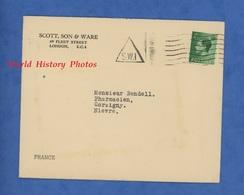 Enveloppe Ancienne - LONDON - Scott , Son & Ware - 69 Fleet Street , E.C. 4 - Cachet S.W.I - Marcophilie