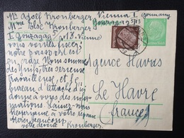 Cpa / Pour AGENCE HAVAS *  LE HAVRE FRANCE / 1938 / COUPLE DE JUIF DEMANDE QUI FAIT UNE DEMANDE D'EMBAUCHE - Briefe U. Dokumente