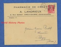 Enveloppe Ancienne - CRECY En BRIE ( Seine Et Marne ) - Pharmacie De Crécy A. LANDRIEUX - 9 Rue Serret - France