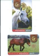 2 Télécartes à Puce Hongrie Cheval Chevaux Horse Barique Selle   (D 432) - Hongrie