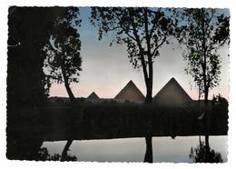 CAIRO - Twilight At Pyramids   1956 To Switzerland   (21 - Kairo