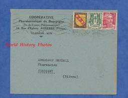 Enveloppe Ancienne - AUXERRE ( Yonne ) - Coopérative Pharmaceutique De Bourgogne - Cachet - Pharmacie - Non Classés