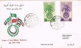 27890. Carta CAIRO (Egypt) 1945. Flags, Banderas - Egipto