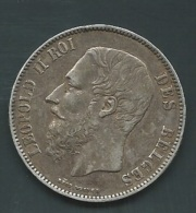 BELGIQUE - LEOPOLD II - 5 Francs - 1871 ARGENT    Pia20703 - 09. 5 Francs