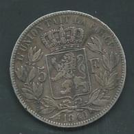 """BELGIQUE - 5 FRANCS ARGENT 1849 -LEOPOLD PREMIER """" TETE NUE   Silver     Pia20803 - 11. 5 Francs"""