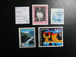 """1980  """" 4 Werte """"  Sauber Gestempelt,  LOT 927 - Norwegen"""