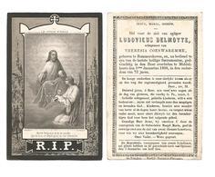 D 60. LUDOVICUS DELMOTTE Ectg. T. Coeswaremme - °BOMMERSHOVEN / + MIDDEL-HEERS 1868 (72j.) - Images Religieuses