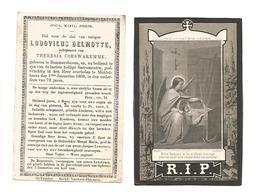 D 61. LUDOVICUS DELMOTTE Ectg. T. Coeswaremme - °BOMMERSHOVEN / + MIDDEL-HEERS 1868 (72j.) - Images Religieuses