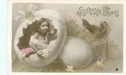 Joyeuses Pâques   , Enfants   ,oeufs  , Poule ,poussins           Z40 - Pasqua