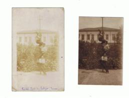 Lot De 2 Photos (+/- 6 X 9 Cm) - DAMAS ( Syrie) Hôpital Henri De  Verbizier En 1932 - Armée Française  (fr57) - Boten