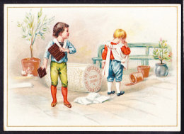 CHROMO Chocolat SUCHARD   +/- 1895  Serie 46  Enfants Aux Sports Et Jeux     Trade Card - Suchard
