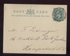 CARTOLINA POSTALE - 1901 -  DA  LONDON A HAMPSTEAD - Interi Postali