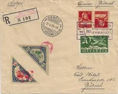 Poste Aérienne - Genève-Zurich - 1925 - Timbres