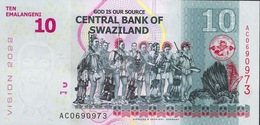 SWAZILAND NLP 10 EMALANGENI 2015  Serie AC   UNC. - Swaziland
