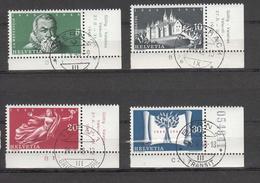 1948   N° 281 à 284   OBLITERATIONS PLEINE        CATALOGUE ZUMSTEIN - Suisse