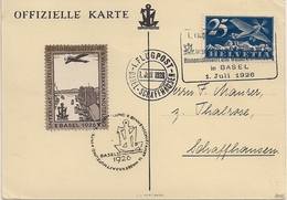 Poste Aérienne Basel-Schaffhausen - 1926 - Timbres