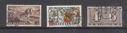 1941/43   N° 252-253-258   OBLITERES        CATALOGUE ZUMSTEIN - Suisse