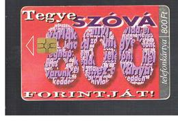 UNGHERIA (HUNGARY) -  1999   SZOVA 800     - USED - RIF. 10121 - Hungary