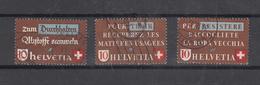 1942   N° 254 à 257   OBLITERES        CATALOGUE ZUMSTEIN - Suisse
