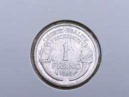 1945 France Francais 1 Franc - Aluminium, Ex.Fine, Uncleaned - France