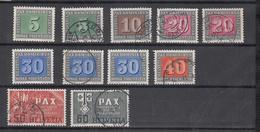 1945  LOT  OBLITERES ET   NEUFS*  COTE PLUS DE 75.00 Frs. VENDU à 15%       CATALOGUE ZUMSTEIN - Suisse