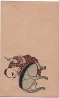 Portes-Nom/ Asiatiques / Petits Personnages / Chine ? Japon? / Vers 1900       MENU249 - Menus