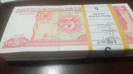 L) 2005 CUBA, BANKNOTES, ERNESTO CHE GUEVARA, 3 PESOS BUNDLE, 100 PIECES, RED, XF - Cuba