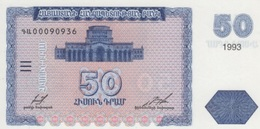 (B0639) ARMENIA, 1993. 50 Dram. P-35. UNC - Armenia