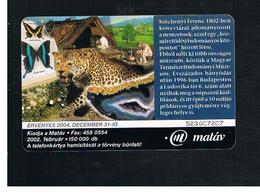 UNGHERIA (HUNGARY) -  2002  MUSEUM, LEOPARD - USED - RIF. 10130 - Hungary