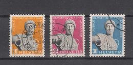 1944  N° 259W à 261W  OBLITERES        CATALOGUE ZUMSTEIN - Suisse