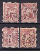 D911/ SAGE N° 70 OBL COTE 140€ / 4 TIMBRES - 1876-1878 Sage (Tipo I)