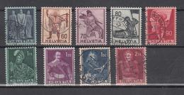 1941  N° 243 à 251  OBLITERES        CATALOGUE ZUMSTEIN - Suisse