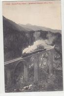 RhB-Dampfzug Mit Güterwagen Auf Dem Wiesener-Viadukt - 1910      (80314) - Trenes