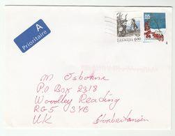 Air Mail DENMARK COVER 2004  MYTHOLOGY, FRUIT Stamps - Denmark