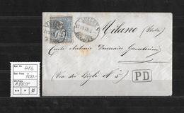 1867-1878 SITZENDE HELVETIA Weisses Papier Gezähnt → SBK-41b Reinblau Auf Brief ►RRR◄ - Lettres & Documents