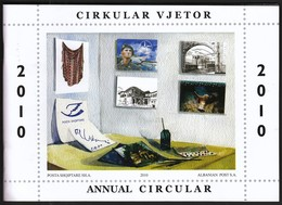 Albania Shqiptare / Year Circular 2010 / Postage Stamps Catalogue - Postzegelcatalogus