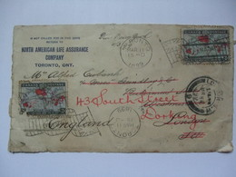 Canada 1899 - Front Of Cover With Toronto Bickerdike Postmarks To London - Re-directed To Dorking - 1851-1902 Règne De Victoria