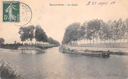 70 - Ray-sur-Saône - Le Canal Animé - Passage D'une Péniche - Autres Communes