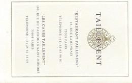 Oenologie/Alcools/TAILLEVENT/Restaurant/dépliant à Trois Volets /Cotation Des Millésimes Réussis/1989     OEN3 - Alcohols